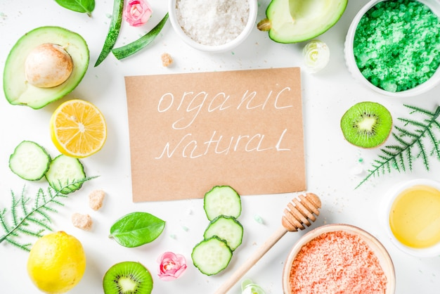 Natural and organic cosmetic concept