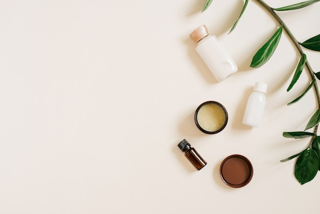 Natural organic cosmetics for body and face care