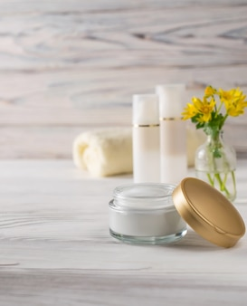 Natural organic face and body care cosmetics