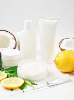 Натуральная органическая домашняя косметика с лимоном