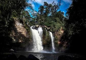 Waterfall mountain vectors photos and psd files free download natural outdoors forest waterfall beautiful scenic altavistaventures Images