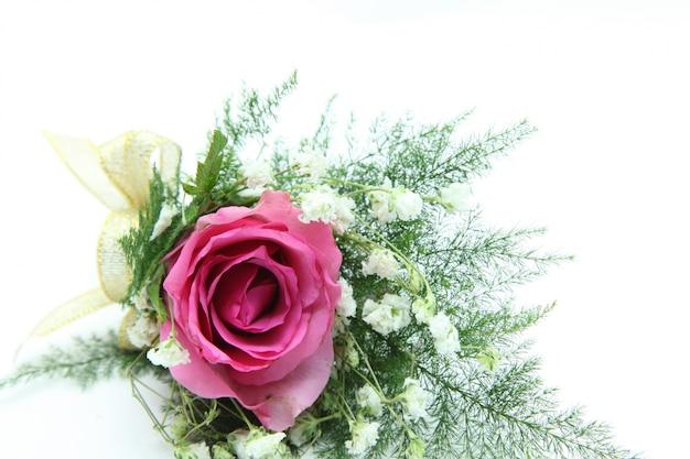Natural pink rose corsage