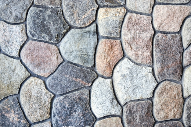 자연 바위 벽 텍스처와 패턴입니다. 돌 블록으로 만든 표면 또는 구조물입니다.