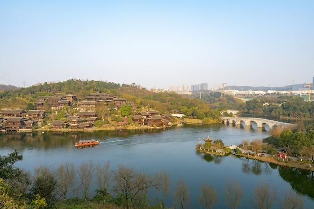 中国重慶ガーデンエキスポの自然風景