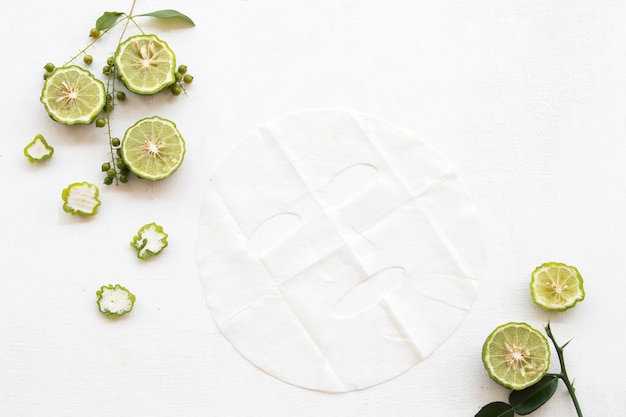 Natural sheet mask extract kaffir lime