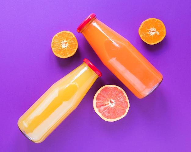 Natural smoothie of orange and grapefruit