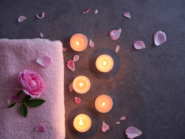 Natural spa composition with roses