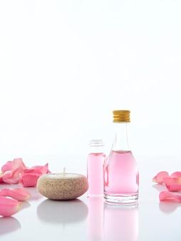 장미와 향초 포푸리의 천연 온천 세트