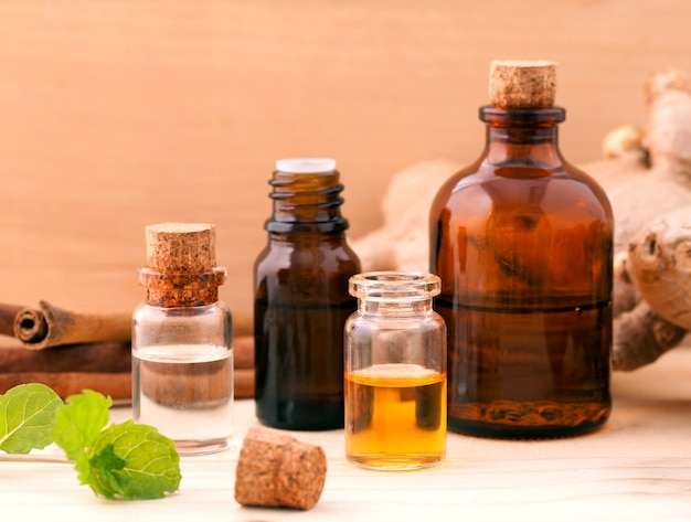 Natural spas ingredients for aroma aromatherapy.