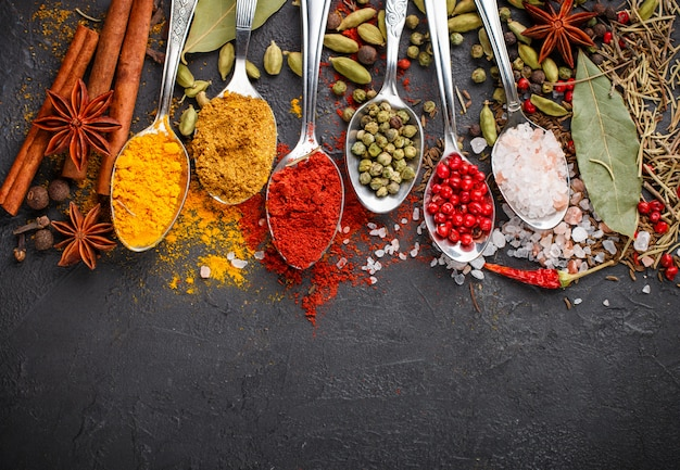 Natural spices, seasonings and herbs