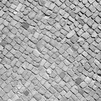 Natural stone aged paviment