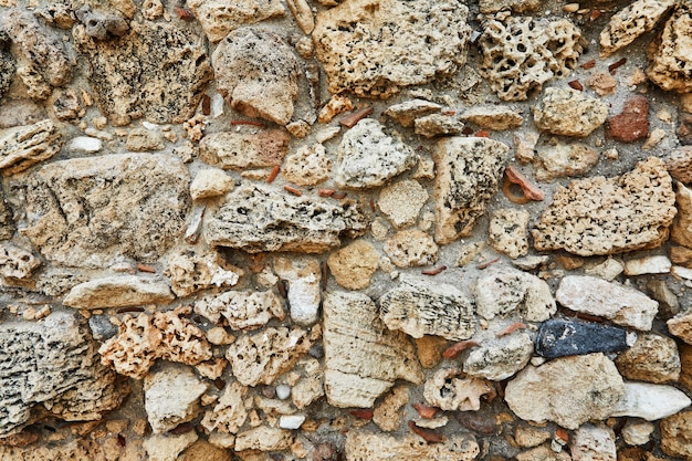 石垣の天然石の質感