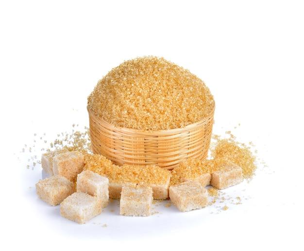 Натуральный сахар на белом