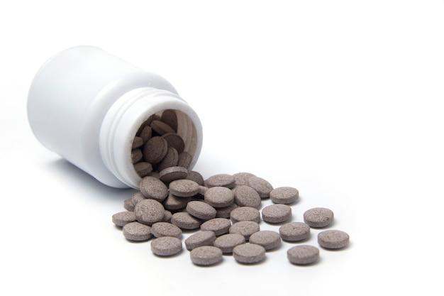 天然錠生物学的に活性なサプリメントハーブ薬と食品添加物の概念
