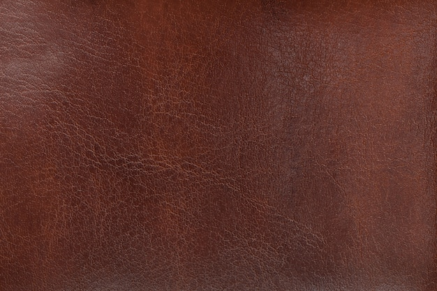 Natural texture aged brown leather