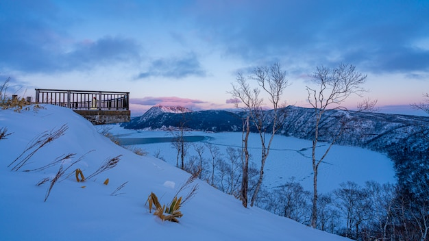 Natural viewpoint in winter