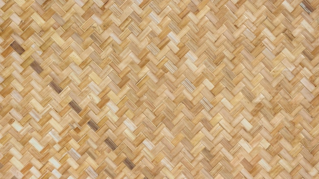 Natural weaving bamboo rattan texture wall background.