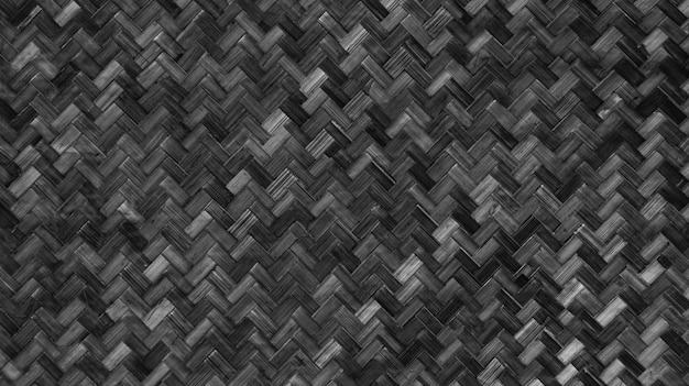 Natural weaving bamboo rattan texture wall.