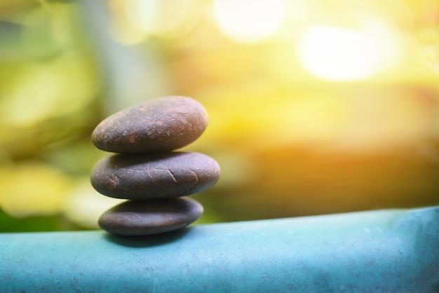 Natural wellness relax zen stones stack