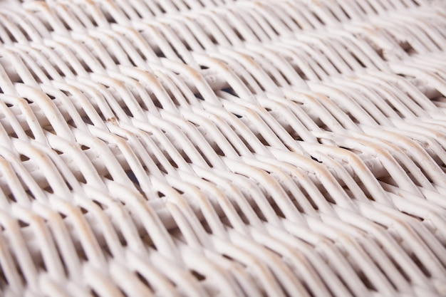 Natural white bamboo wicker background, wicker texture