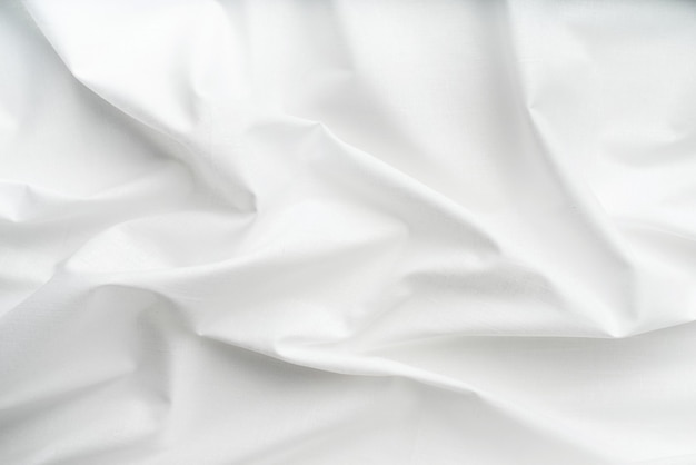 Natural white fabric linen texture for design. white canvas for background or mock up.