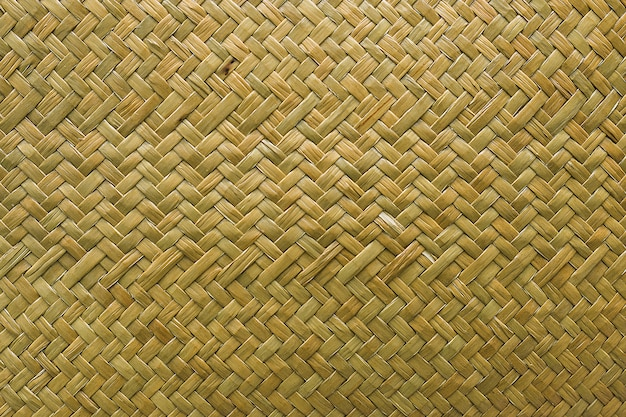 Natural wicker braided woven rattan, sedge grass texture background