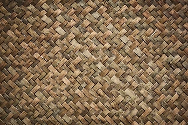 Natural wicker braided woven rattan sedge grass texture