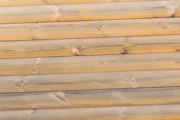 Natural wood texture. light wooden wall from beams. abstract background.