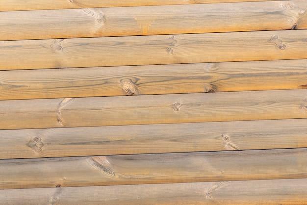 天然木の質感。梁からの軽い木製の壁。抽象的な背景。