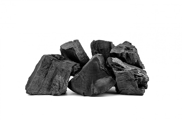 Natural wooden charcoal or traditional hard wood charcoal.