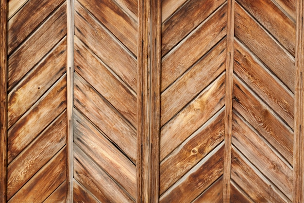Natural wooden geometrical wall