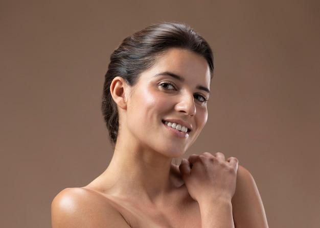 Natural young woman posing