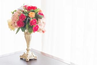 Nature artificial bouquet color background