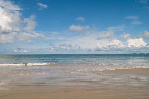 海岸のビーチの波と海岸線の自然の背景