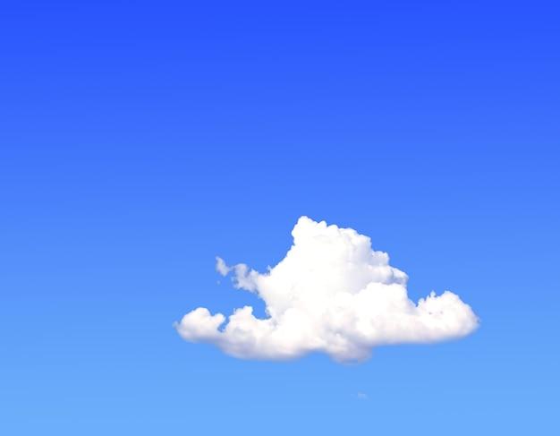 Предпосылка природы. белые облака над голубым небом