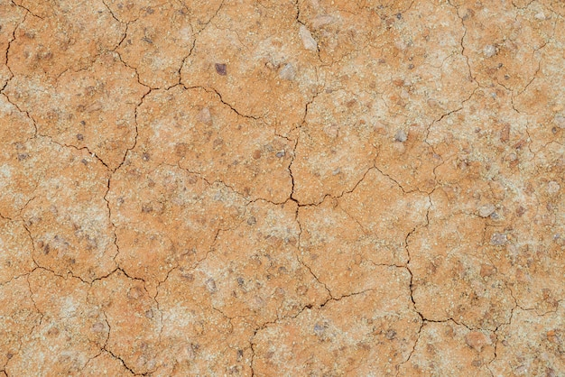 Nature background with cracks on clay