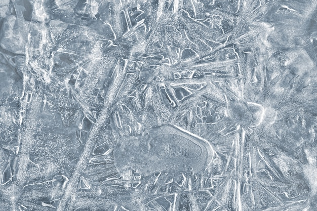 Nature background with ice patterns