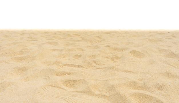 白地に自然のビーチの砂
