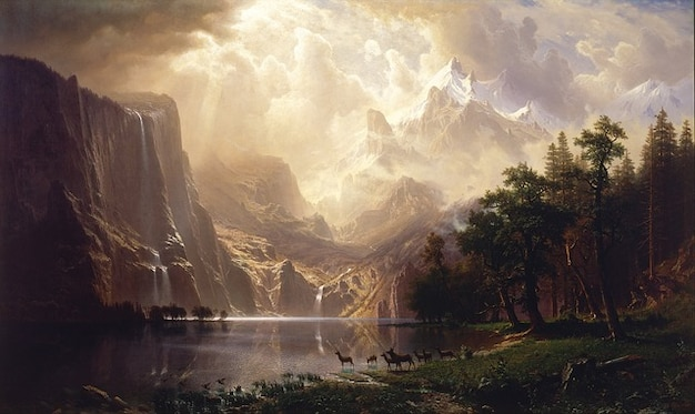 Nature canvas painting oil artistic sky