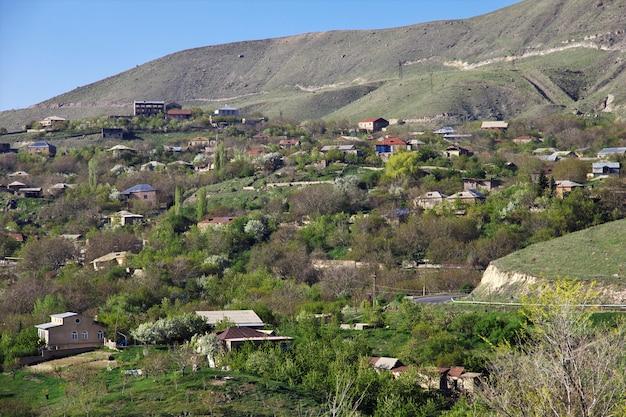 Nature of caucasus mountains in armenia