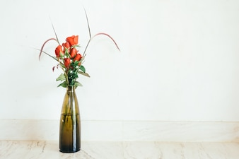 Nature fresh red flower decor