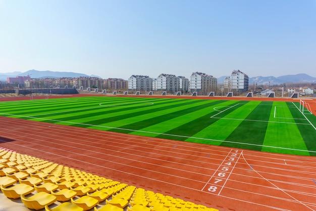 自然のゲームの新鮮な床のクローズアップスタジアム