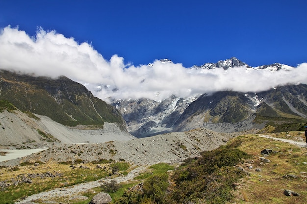 Nature of hooker valley in new zealand