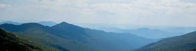Nature landscape of beautiful mountains