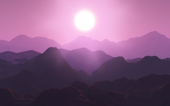 Nature landscape in pink tones