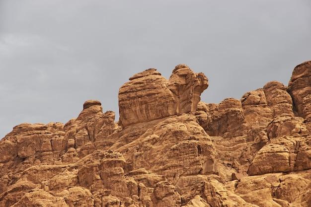 サウジアラビアのワディディサアルシャク峡谷の性質