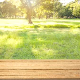自然製品の背景、緑の裏庭