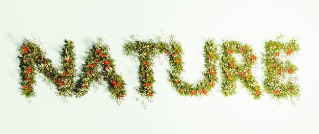 Знак природы с цветами и травой