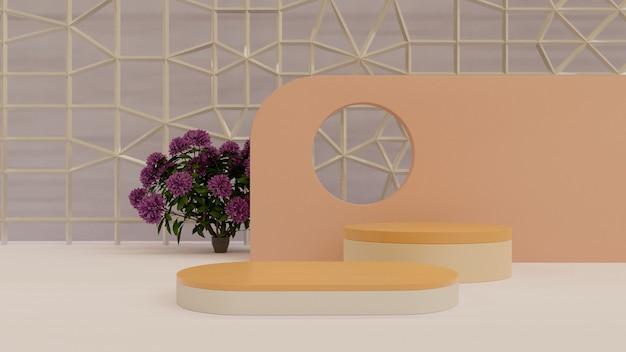 ネイチャースタジオ製品表彰台高品質の背景正面図