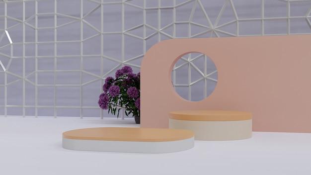 ネイチャースタジオ製品表彰台高品質の背景側面図